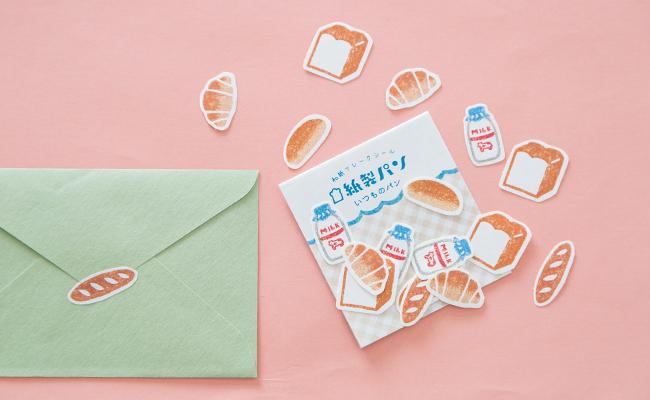 紙製パンシリーズ「和紙フレークシール」