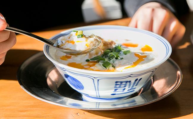 東京豆漿生活の「鹹豆漿(豆乳スープ)」