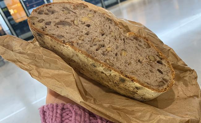 パリのパン屋『Utopie(ユトピ)』のくるみパンの断面