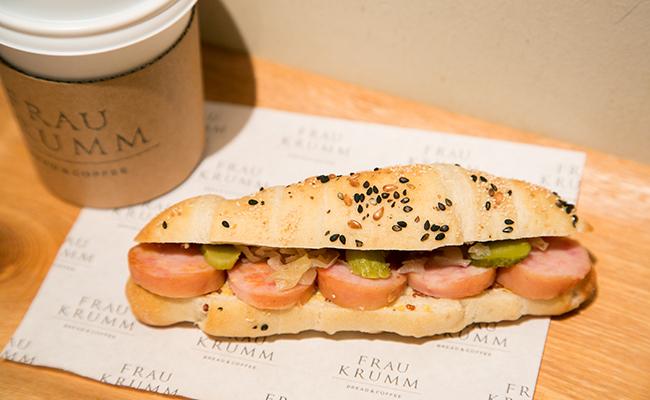 恵比寿『FRAU KRUMM(フラウクルム)』のクレッセントのサンドイッチ