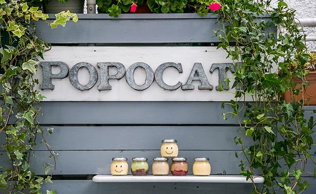 代々木公園『POPOCATE(ポポカテ)』のベンチに並ぶプリン