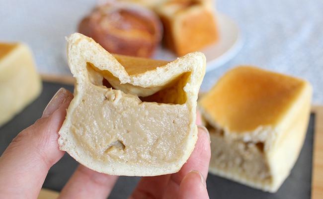 北千住『SUZA bistro(スザ・ビストロ)』の「紅茶のクリームパン」の断面