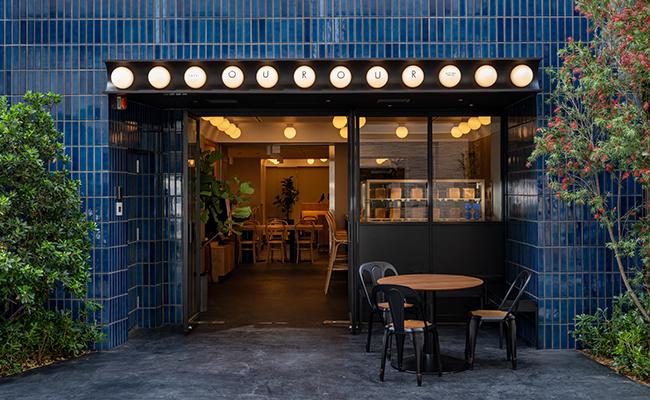 ミニマルホテル『CAFE / MINIMAL HOTEL OUR OUR(カフェ アンド ミニマルホテル アゥア)』の外観