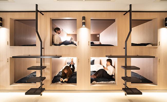 浅草橋のミニマルホテル『OUR OUR』の宿泊ルーム