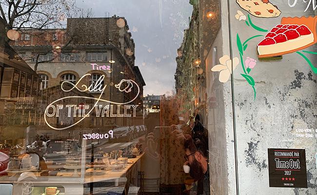 パリのカフェ『Lily of the Valley』の外観
