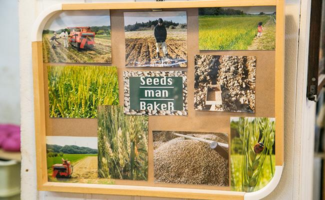 『Seeds manBakeR(シーズマンベーカー)』の店内に飾られた写真