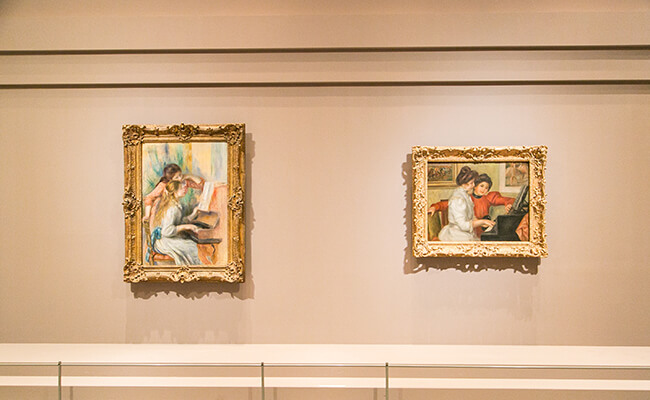 ルノワール作品の展示の様子