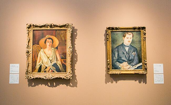 アンドレ・ドラン作品の展示の様子