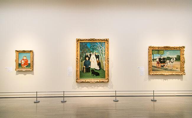 アンリ・ルソー作品の展示の様子