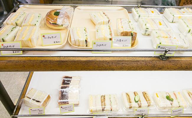 『サンドウィッチパーラー まつむら』のサンドイッチ