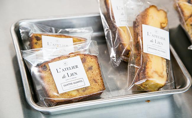『L'ATELIER de LIEN(ラトリエ・ドゥ・リアン)』のパウンドケーキ