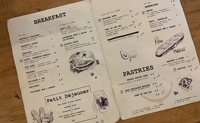 『Baguett's Café(バケットカフェ)』のメニュー