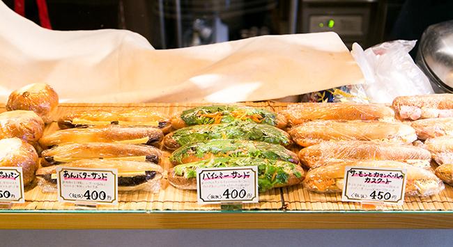 『手づくりのデリとパン cafe cocona』のサンドイッチ