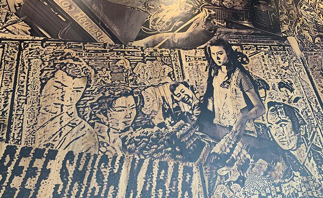 『ティエリー マルクス ラ ブーランジェリー』の天井の壁