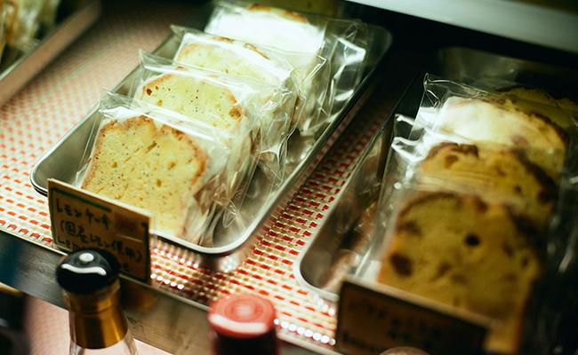 四谷三丁目『bar dress』のレモンケーキ