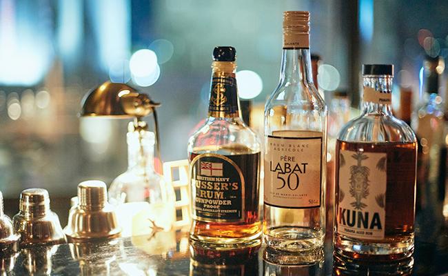 ラム酒のボトル