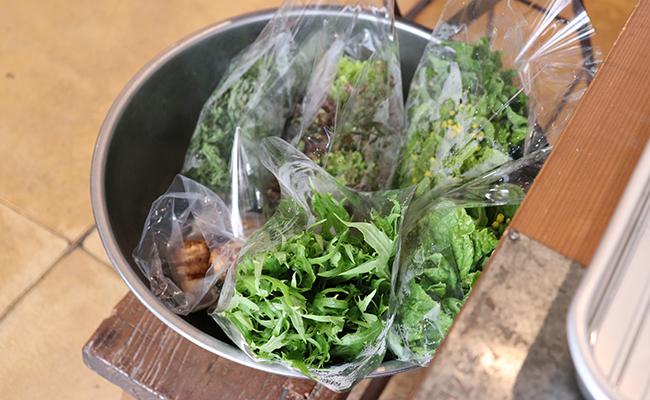 実家で栽培された無農薬野菜