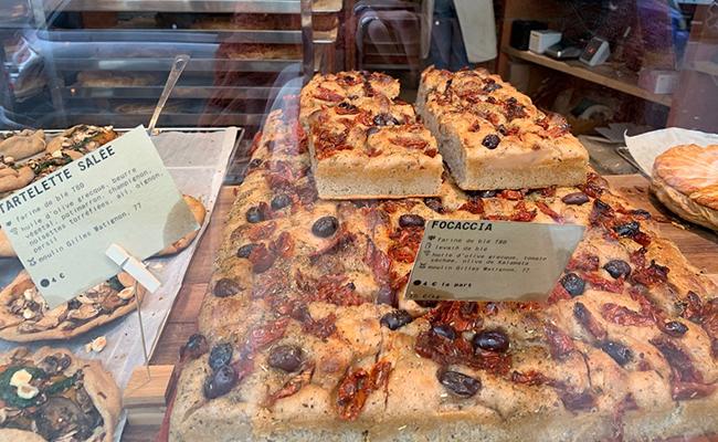 パリのパン屋『ATELIER P1』のフォカッチャ