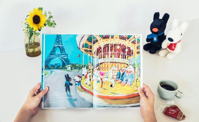 リサとガスパールがお出迎え!絵本でハローキティとパリ旅行