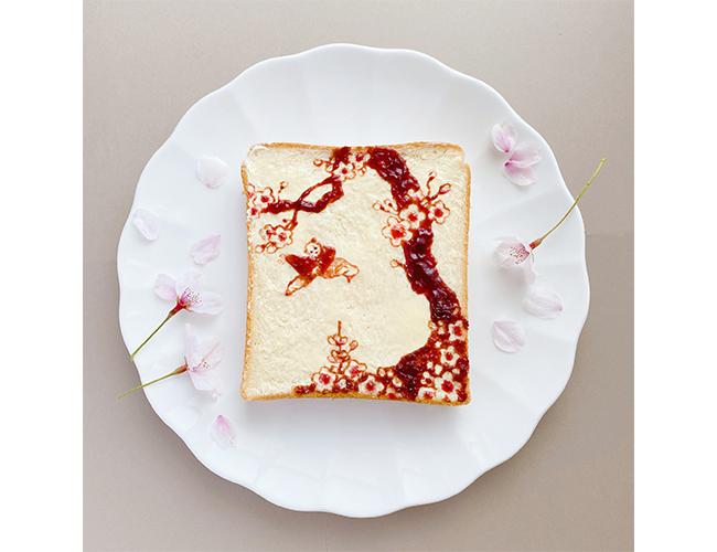 SASAKIさんのパンアート「桜」
