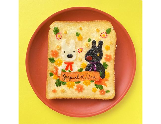 リサとガスパールのパンアート