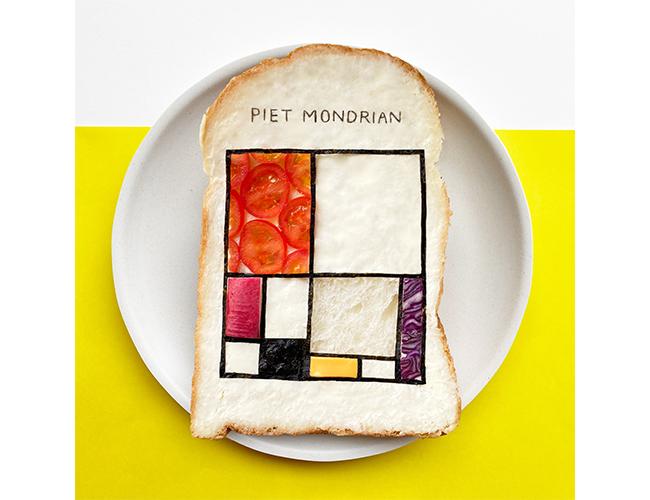 モンドリアンの代表作「コンポジション」をオマージュしたパンアート