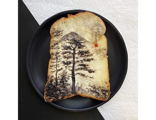 写真家・Lang Jingshan(郎靜山)の作品をオマージュしたパンアート