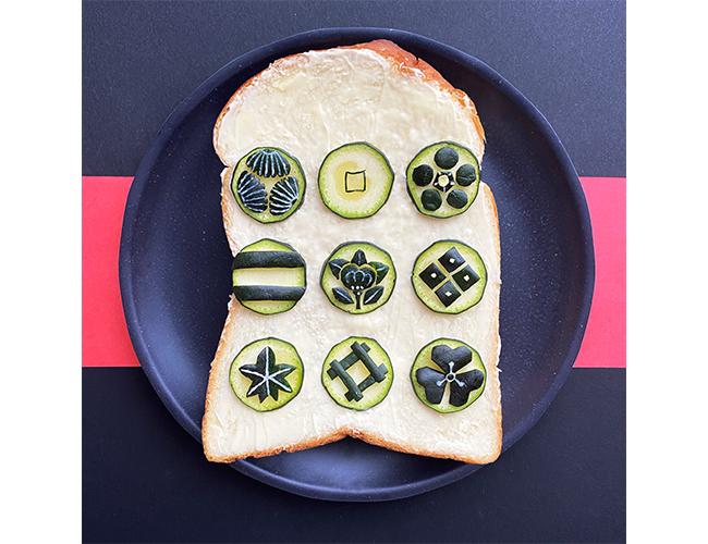 「家紋」を表現したパンアート