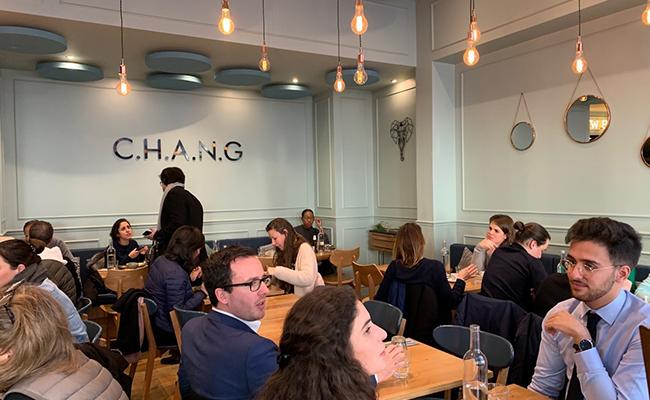 パリのタイ料理店『CHANG(チャン)』の店内