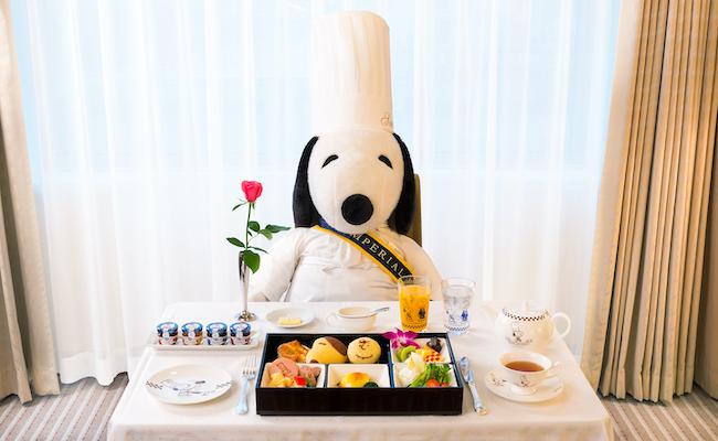 スヌーピーコーディネートの宿泊プラン「Grand Chef SNOOPY」