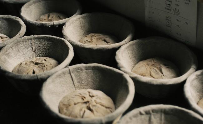 発酵中の生地