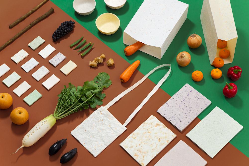 廃棄された野菜と果物で作る紙文具「FOOD PAPER」が織りなす新しい植物ライフ