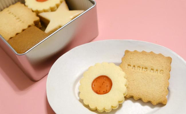 伝えたいメッセージがクッキーに。シンプルで懐かしの味『もも缶』
