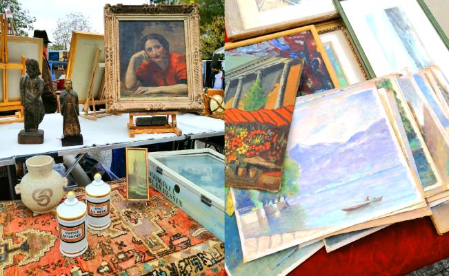 水彩画から油絵まで額付きでも購入できます。水彩画は1枚10ユーロほど。旅のお土産にぴったり。