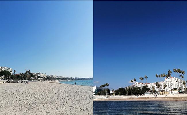 真っ青の空と海と真っ白の砂のコントラストがトリコロールカラーを思い出させます。
