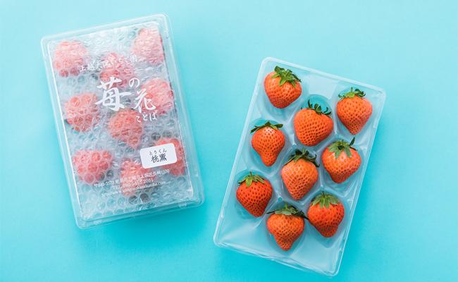 新潟県上越市の「苺の花ことば」から取り寄せたのは、「桃薫」という品種のいちご。