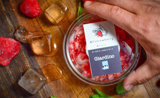 坂下strawberry/削りいちごとミルクのジェラート