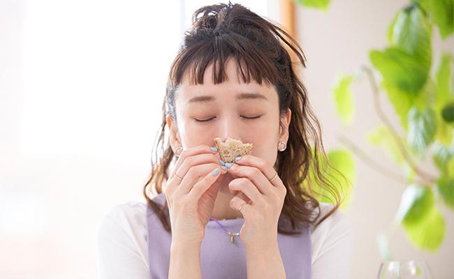 トシさんのバゲットは小麦の香りが強く、いつまでも香りを味わいたい気分なのです(笑)