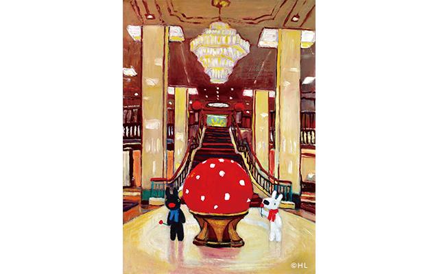 相変わらずいたずら好きのリサとガスパールは、帝国ホテルでもいつものように大冒険!