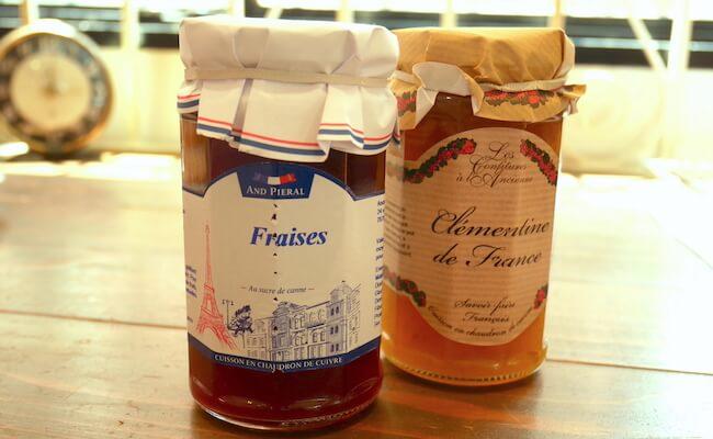 フランスから輸入しているジャムや蜂蜜