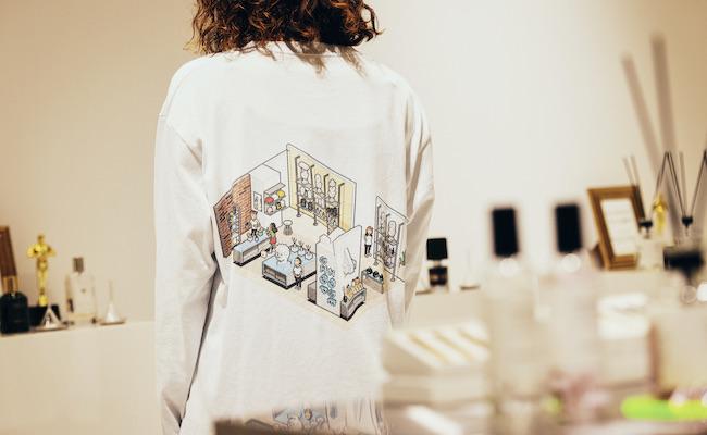 Tシャツのイラストは、ピクセルアートグループ・eBoyによるもの