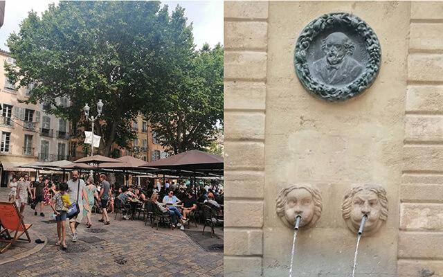 旧市街には至る所に噴水が流れていて、憩いの場所に