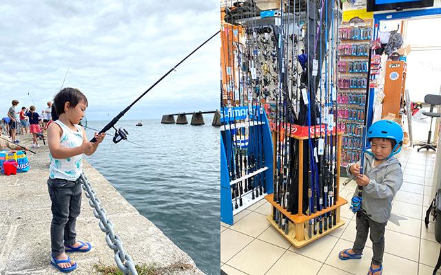 釣り道具屋で道具を購入