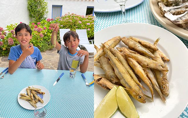 新鮮な魚をフライに