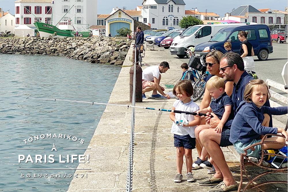 大人も子どもものんびり釣りを楽しむフランスのバカンス